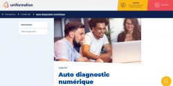 Page dédiée à l'autodiagnostic numérique sur le site d'Uniformation