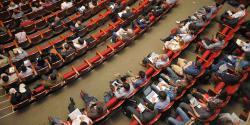 Photo illustrant la tenue d'une conférence