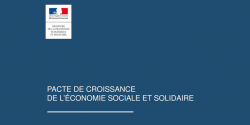 Visuel du dossier de presse sur le pacte de croissance pour l'ESS