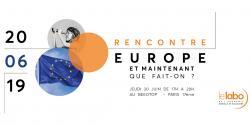 Visuel de la rencontre du 20.06.2019 sur l'Europe organisée par Le Labo de l'ESS