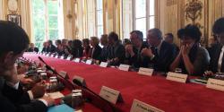 Photo de la réunion du 6 mai 2019 qui s'est tenue à Matignon
