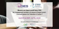 L'UDES et la CRESS des Pays de la Loire co-organisent une web conférence sur le thème de l'impact social