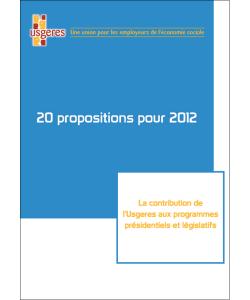 Illustration des 20 propositions de l'UDES (ex-Usgeres) pour 2012