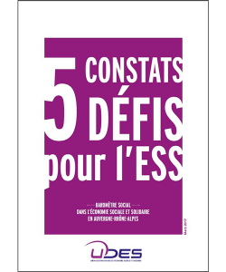 Couverture du baromètre social dans les entreprises de l'ESS en Auvergne-Rhône-Alpes
