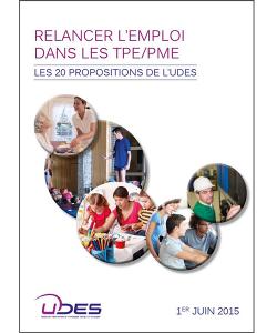 Illustration des 20 propositions de l'UDES pour l'emploi dans les TPE/PME