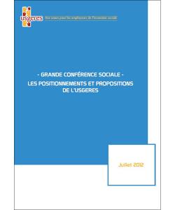 Couverture du document présentant les propositions de l'UDES (ex-Usgeres) dans le cadre de la conférence sociale 2012