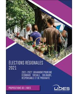 Couverture de la plateforme de propositions de l'UDES pour les élections régionales