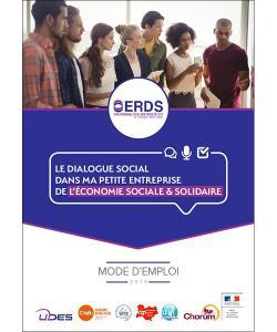 Couverture du guide « Le dialogue social dans ma petite entreprise sociale et solidaire »