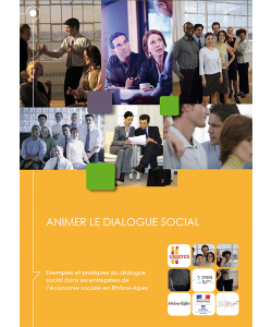 """Couverture du guide """"Animer le dialogue social"""""""