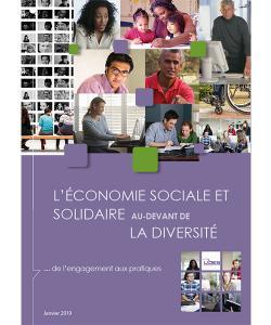 """Couverture du guide """"l'ESS au-devant de la diversité"""""""