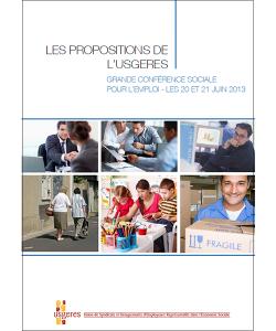 Illustration des propositions de l'UDES pour la conférence sociale pour l'emploi en 2013