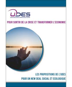 Couverture des propositions de l'UDES pour sortir de la crise