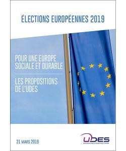 Couverture du document présentant les propositions de l'UDES dans le cadre des élections européennes