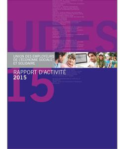 Couverture du rapport d'activité 2015 de l'UDES