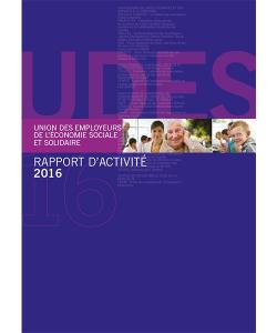 Couverture du rapport d'activité 2016 de l'UDES