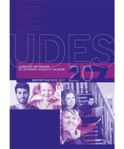 Couverture du rapport d'activité 2017 de l'UDES