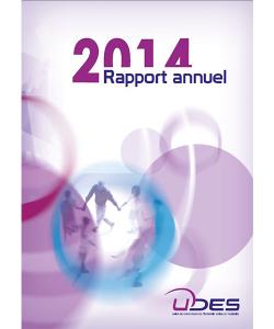 Couverture du rapport annuel 2014 de l'UDES