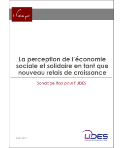 Illustration du sondage IFOP sur la perception de l'ESS en tant que relais de croissance